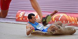 28-08-2015 CHN: IAAF World Championships Athletics day 7, Beijing<br /> Oleksiy Kasyanov (UKR) come pet at Long jump Decathlon<br /> Photo by Ronald Hoogendoorn / Sportida