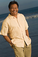 Smiling Man on Beach
