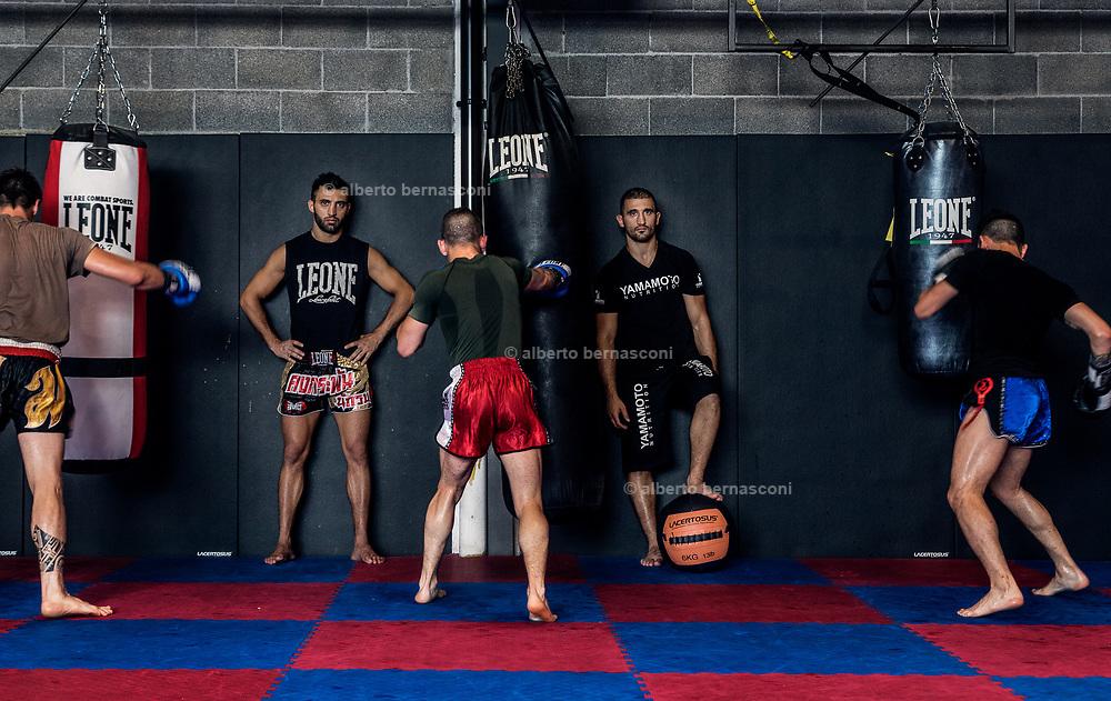 MIlano, I fratelli Petrsyan nella loro palestra , Armin e Giorgio