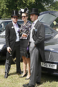 Hugh Howard, Suzie Howard and Paul Rahim, Royal Ascot Race Meeting. Wednesday 21 June 2006. ONE TIME USE ONLY - DO NOT ARCHIVE  © Copyright Photograph by Dafydd Jones 66 Stockwell Park Rd. London SW9 0DA Tel 020 7733 0108 www.dafjones.com