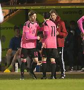 Scotland's Craig Wighton replaces Lewis Morgan - Scotland under 21s v Estonia international challenge match at St Mirren Park, St Mirren. Pic David Young<br />  <br /> - © David Young - www.davidyoungphoto.co.uk - email: davidyoungphoto@gmail.com