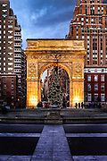 Washington Square Arch in New York City.