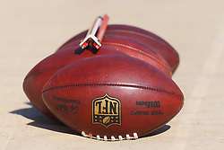Oct 30, 2011; San Francisco, CA, USA; Detailed view of a group of NFL footballs on the sidelines before the game between the San Francisco 49ers and the Cleveland Browns at Candlestick Park. San Francisco defeated Cleveland 20-10. Mandatory Credit: Jason O. Watson-US PRESSWIRE