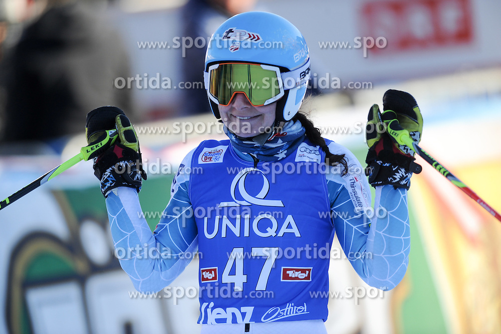28.12.2015, Hochstein, Lienz, AUT, FIS Weltcup Ski Alpin, Lienz, Riesenslalom, Damen, 2. Durchgang, im Bild Megan Mcjames (USA) // Megan Mcjames of the USA reacts after her 2nd run of ladies Giant Slalom of the Lienz FIS Ski Alpine World Cup at the Hochstein in Lienz, Austria on 2015/12/28. EXPA Pictures © 2015, PhotoCredit: EXPA/ Erich Spiess