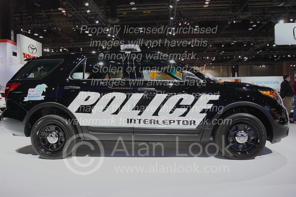 08 February 2012: Ford Police Interceptor Utility. Chicago Auto Show, Chicago Automobile Trade Association (CATA), McCormick Place, Chicago Illinois