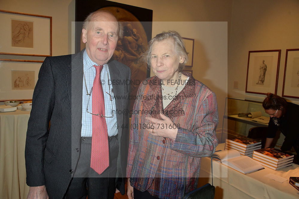 LONDON, ENGLAND 28 NOVEMBER 2016: Sir Nicholas & Lady Goodison at a reception to celebrate the publication of The Sovereign Artist by Christopher Le Brun and Wolf Burchard held at the Royal Academy of Art, Piccadilly, London, England. 28 November 2016.