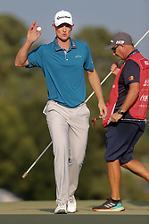 September 22, 2018 - Atlanta, Georgia, United States - Justin Rose waves to the crowd after birdie putting the 16th green during the third round of the 2018 TOUR Championship. (Credit Image: © Debby Wong/ZUMA Wire)