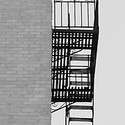 A Fire Escape on an apartment building