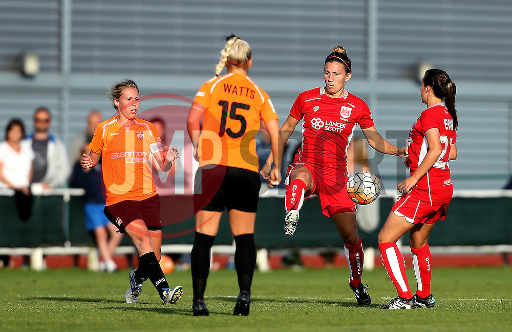 Grace McCatty defender for Bristol City Women clears the ball - Mandatory by-line: Robbie Stephenson/JMP - 23/07/2016 - FOOTBALL - Stoke Gifford Stadium - Bristol, England - Bristol City Women v London Bees - FA Women's Super League 2