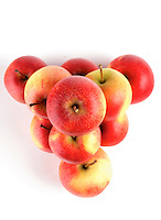 Apples on white background - studio shot