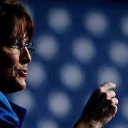 Vice Presidential candidate Sarah Palin campaigns to more than 5,500 at the rally in Sims Park in New Port Richey.