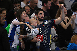 Karabatic Nikola and his family after 25th IHF men's world championship 2017 match between France and Slovenia at Accord hotel Arena on january 24 2017 in Paris. France. PHOTO: CHRISTOPHE SAIDI / SIPA / Sportida