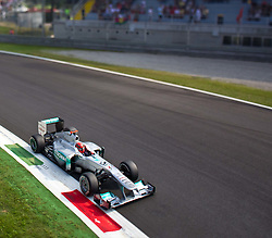 10.09.2011, Autodromo Nationale, Monza, ITA, F1, Grosser Preis von Italien, Monza, im Bild Michael Schumacher (GER), Mercedes GP Petronas F1 Team TILT AND SHIFT // during the Formula One Championships 2011 Italian Grand Prix held at the Autodromo Nationale, Monza, near Milano, Italy, 2011-09-10, EXPA Pictures © 2011, PhotoCredit: EXPA/ J. Feichter