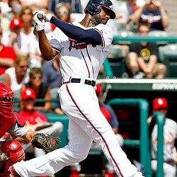 March 19, 2012; Lake Buena Vista, FL, USA; Atlanta Braves right fielder Jason Heyward (22) against the St. Louis Cardinals during a spring training game at Disney Wide World of Sports complex. Mandatory Credit: Derick E. Hingle-US PRESSWIRE