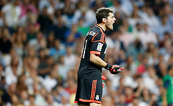 29.08.2012, Estadio Santiago Bernabeu, Madrid, ESP, Supercup, Real Madrid vs FC Barcelona, Rueckspiel, im Bild Real Madrid's Iker Casillas reacts // during the Spanish Supercup 2nd Leg Match match between Real Madrid CF and Barcelona FC at the Estadio Santiago Bernabeu, Madrid, Spain on 2012/08/29. EXPA Pictures © 2012, PhotoCredit: EXPA/ Alterphotos/ Alvaro Hernandez..***** ATTENTION - OUT OF ESP and SUI *****