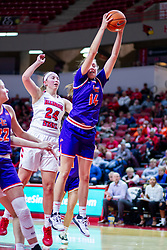 NORMAL, IL - January 05: Abby Feit gets rebound position on Megan Talbot during a college women's basketball game between the ISU Redbirds and the Purple Aces of University of Evansville January 05 2020 at Redbird Arena in Normal, IL. (Photo by Alan Look)