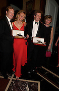 the Earl and Countess of Derby, the hon Peter and Mrs. Stanley. The 2004 Cartier Racing awards, Four Seasons Hotel. London. 17 November 2004. ONE TIME USE ONLY - DO NOT ARCHIVE  © Copyright Photograph by Dafydd Jones 66 Stockwell Park Rd. London SW9 0DA Tel 020 7733 0108 www.dafjones.com
