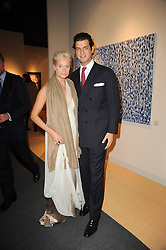 VIP reception of the Pavilion of Art & Design London 2010 held in Berkeley Square, London on 12th October 2010.<br /> Picture Shows:-Prince Casimir zu Sayn-Wittgenstein-Sayn and Kalita Al-Swaidi.