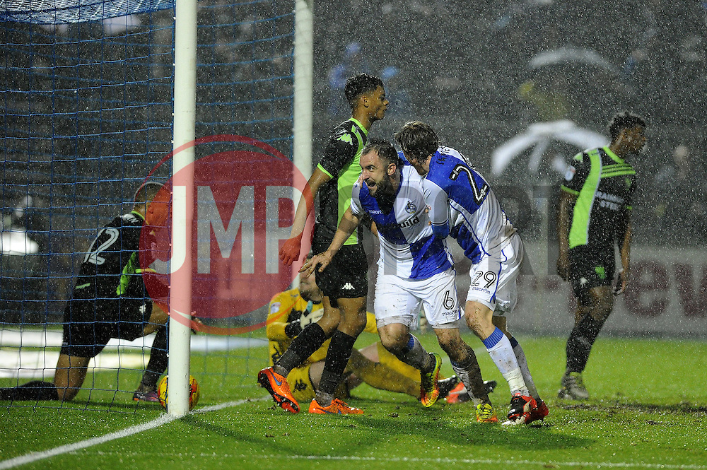 Peter Hartley of Bristol Rovers celebrates his goal - Mandatory by-line: Neil Brookman/JMP - 10/12/2016 - FOOTBALL - Memorial Stadium - Bristol, England - Bristol Rovers v Bury - Sky Bet League One
