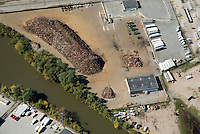 Aerial view of scrap metal processor facility at the Port of Wilmington, DE Aerial view of Scrap Metal Exporting Facility at the Port of Wilmington, Delaware.<br /> Steel is an important import and export commodity for the Port of Wilmington, a member of the AIIS  (American Institute for International Steel).  As the first inbound deep water port on the Delaware River, This port is  a &ldquo;load center&rdquo; for steel carriers arriving from Europe, South America, and the Far East.  <br /> distribution hub for steel cargos. Our workforce's steel handling experience includes: slabs, beams, cold and hot rolled coils, wire rod, rebar, profiles, and billets.
