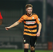 Barnet defender Elliott Johnson during the Sky Bet League 2 match between Barnet and Exeter City at The Hive Stadium, London, England on 31 October 2015. Photo by Bennett Dean.