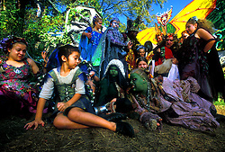 Stock photo of a group dressed as trolls and ogres at the Texas Renaissance Festival in Plantersville Texas