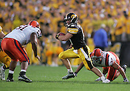08 SEPTEMBER 2007: Iowa quarterback Jake Christensen (6) scrambles away from the defense in Iowa's 35-0 win over Syracuse at Kinnick Stadium in Iowa City, Iowa on September 8, 2007.