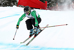 Sasa Faric of Slovenia at FIS World Cup Ski cross race, on December 22, 2009 in Innichen / San Candido, Italy. (Photo by Grega Stopar)