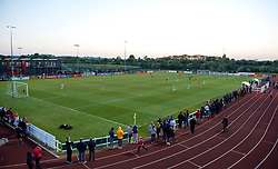 General view of Stoke Gifford Stadium with over 800 spectators - Mandatory by-line: Paul Knight/JMP - 09/05/2017 - FOOTBALL - Stoke Gifford Stadium - Bristol, England - Bristol City Women v Manchester City Women - FA Women's Super League Spring Series