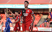 Sonny Bradley shows his displeasure during the Sky Bet League 2 match between Crawley Town and Notts County at the Checkatrade.com Stadium, Crawley, England on 16 January 2016. Photo by Michael Hulf.
