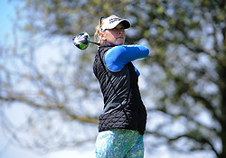 April 29, 2018 - San Francisco, CA, U.S. - SAN FRANCISCO, CA - APRIL 29: Jessica Korda of the United States looks at her tee off shot on the fifth hole during the final round of the Mediheal Championship on April 29, 2018 at Lake Merced Golf Club in San Francisco,CA (Photo by Samuel Stringer/Icon Sportswire) (Credit Image: © Samuel Stringer/Icon SMI via ZUMA Press)