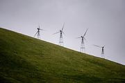 Dublin, California, USA, February 10th 2007:  A wind farm in the Altamont Pass in Dublin.