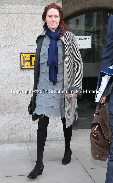 Rebekah Brookes leaving the phone hacking trial at the Old Bailey in London, Friday, 21st February 2014. Picture by Stephen Lock / i-Images