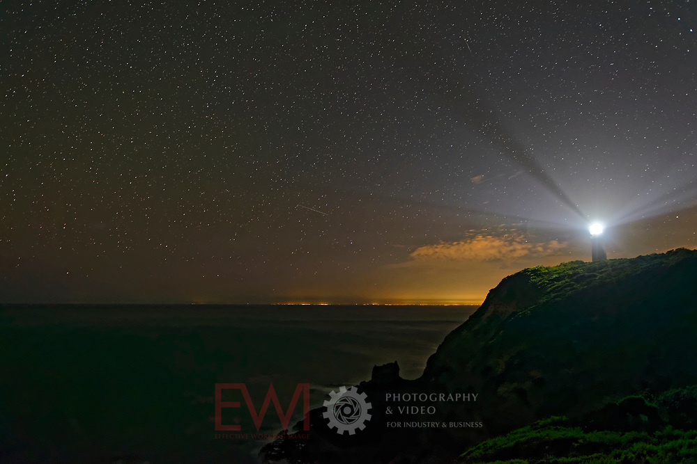 Cape Schanck Lighthouse at night starry background