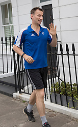 © Licensed to London News Pictures. 27/06/2017. London, UK. Health Secretary Jeremy Hunt jogs near his home. Mr Hunt is facing criticism over the amount of time it took him to inform Parliament about a clerical blunder that allowed 700,000 letters to NHS patients to go missing. Photo credit: Peter Macdiarmid/LNP