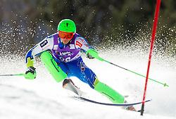 KRANJEC Zanof Slovenia competes during 1st Run of Men's Slalom - Pokal Vitranc 2012 of FIS Alpine Ski World Cup 2011/2012, on March 11, 2012 in Vitranc, Kranjska Gora, Slovenia.  (Photo By Vid Ponikvar / Sportida.com)