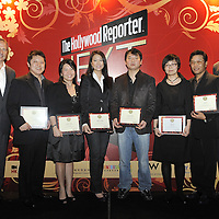 HONG KONG - MARCH 24:  (L-R) Hollywood Reporter's Senior VP, Publishing Director Eric Mika, David Lee, Grace Chen, Alvina Wong, Lewis Kim, Chen Jie, BoA and Hollywood Reporter's Asia Editor Jonathan Landreth during The Hollywood Reporter Next Gen Asia Launch Cocktail Reception event at the W Hotel Kowloon on March 24, 2009 in Hong Kong. The initiative has recognised over 500 individuals under 35 over the last 15 years, and is run in conjunction with the Hong Kong International Film Festival.  Photo by Victor Fraile / studioEAST
