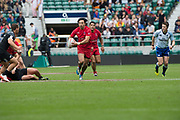 Twickenham, Surrey United Kingdom. Canadian, Natham HIRAYAMA, in action during the Pool C match, Canada vs New Zealand at the  &quot;2017 HSBC London Rugby Sevens&quot;,  Saturday 20/05/2017 RFU. Twickenham Stadium, England    <br /> <br /> [Mandatory Credit Peter SPURRIER/Intersport Images]