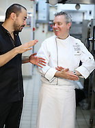 Photography of the food intended for the menu for dinner at the Grosvenor House Hotel affter the EE British Academy Film Awards on Sunday 14th February 2016. Executive Chef of Grosvenor House, Nigel Boschetti