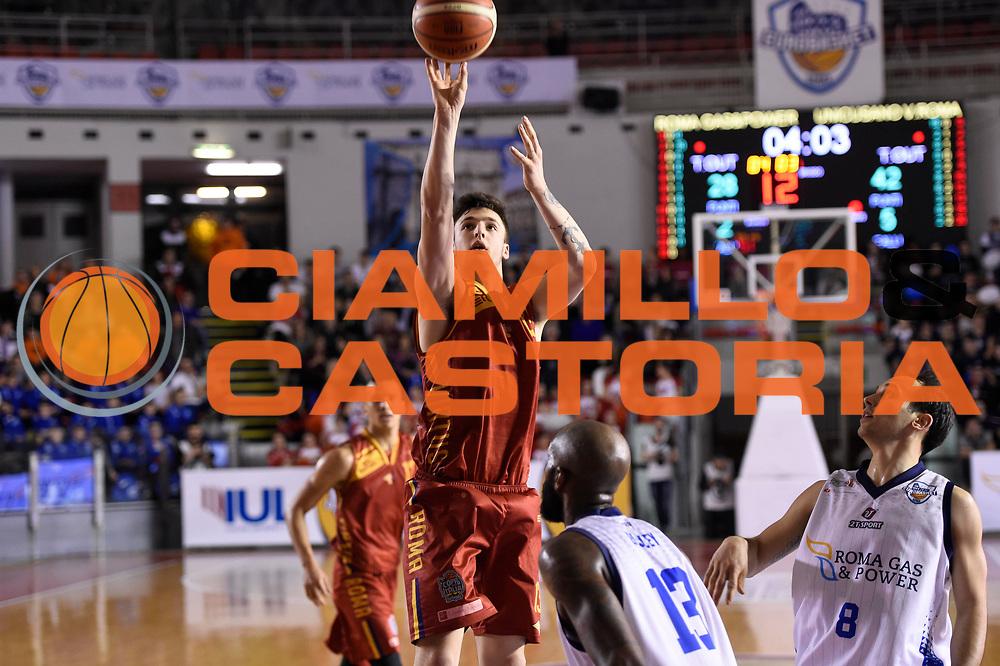 Tommaso Baldasso<br /> Roma Gas &amp; Power Roma - Unicusano Roma<br /> Campionato Basket LNP 2016/2017<br /> Roma 12/03/2017<br /> Foto Ciamillo-Castoria