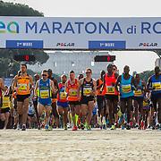 Roma 07/04/2018 <br /> Maratona di Roma 2018 <br /> 24ma edizione<br /> la partenza dei top runner