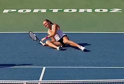 Anna Chakvetadze of Russia at 2nd Round of Doubles at Banka Koper Slovenia Open WTA Tour tennis tournament, on July 22, 2010 in Portoroz / Portorose, Slovenia. (Photo by Vid Ponikvar / Sportida)