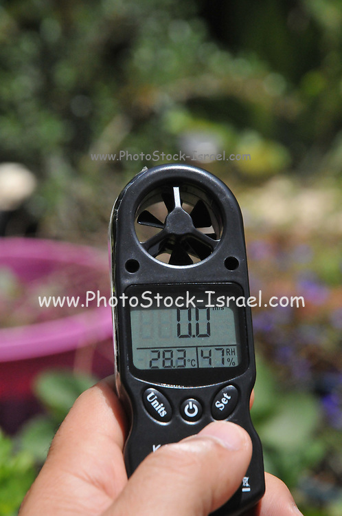 Hand held weather station Anemometer and thermometer