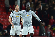 Romelu Lukaku (9) of Manchester United at full time after a 2-0 win over Bournemouth during the Premier League match between Bournemouth and Manchester United at the Vitality Stadium, Bournemouth, England on 18 April 2018. Picture by Graham Hunt.