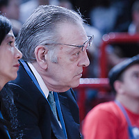 06 October 2010: Donnie Walsh, the president of basketball operations for the New York Knicks, is seen during the Minnesota Timberwolves 106-100 victory over the New York Knicks, during 2010 NBA Europe Live, at the POPB Arena in Paris, France.