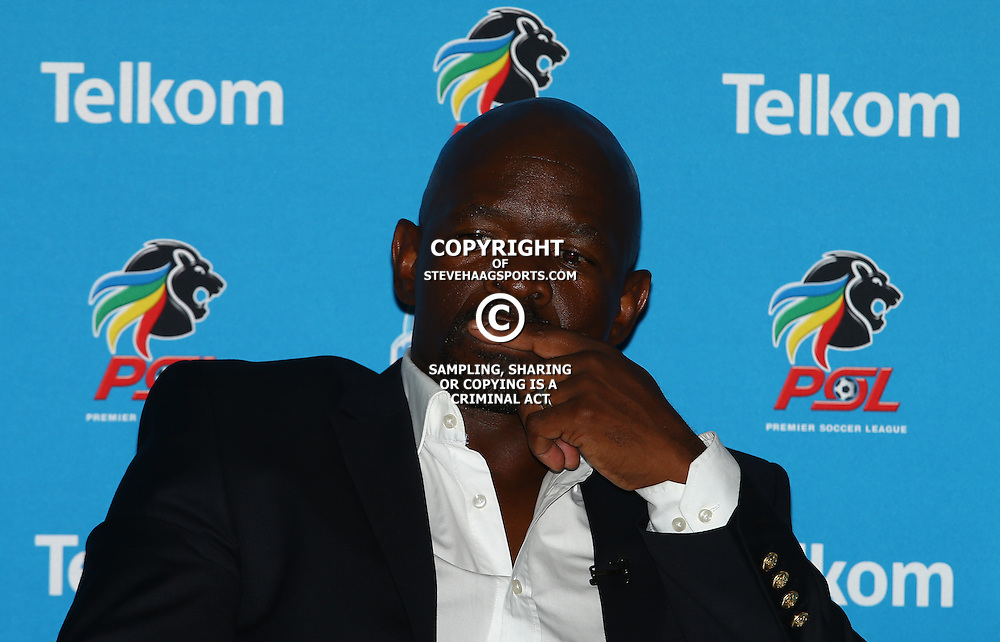 TUESDAY, 15 DECEMBER 2015   Kaizer Chiefs coach Steve Komphela.during the Mamelodi Sundowns and Kaizer Chiefs joint press conference ahead of their TKO Final showdown. Attended by Mamelodi Sundowns coach, Pitso Mosimane, and Kaizer Chiefs coach, Steve Komphela. <br /> Date: 15 December 2015<br /> Venue: Moses Mabhida Stadium  (Photo by Steve Haag) Images for social media must have consent from Steve Haag