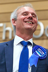 © Licensed to London News Pictures. 09/06/2017. Aylesbury, UK.  David Lidington (Conservative) reacts after being announced as the winner of the Aylesbury constituency in the 2017 general election.  Photo credit: Cliff Hide/LNP