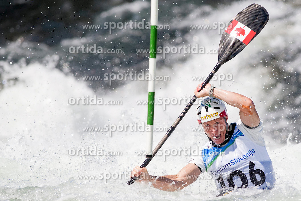 17.08.2013, Tacen, Ljubljana, SLO, ICF Kanuslalom Weltcup, im Bild David Ford of Canada // during Kayak(K1) Man qualifications race during the ICF Canoe Slalom World Cup at Tacen, Ljubljana, Slovenia on 2013/08/17. EXPA Pictures &copy; 2013, PhotoCredit: EXPA/ Sportida/ Urban Urbanc<br /> <br /> ***** ATTENTION - OUT OF SLO *****