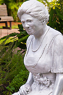 Statue of Mina Miller Edison (1896-1947) by D.J. Wilkins, Edison & Ford Winter Estates, Fort Myers, Florida