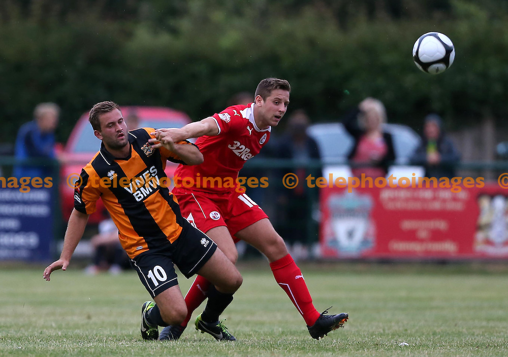 Crawley&rsquo;s Emmett O&rsquo;Connor in action during the pre season friendly between Three Bridges and Crawley Town at Jubilee Field in Crawley. July 28, 2014.<br /> James Boardman TELEPHOTO IMAGES